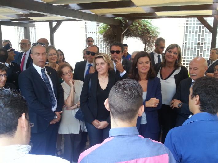 """La Boldrini al Malaspina: """"Sono Laura"""""""