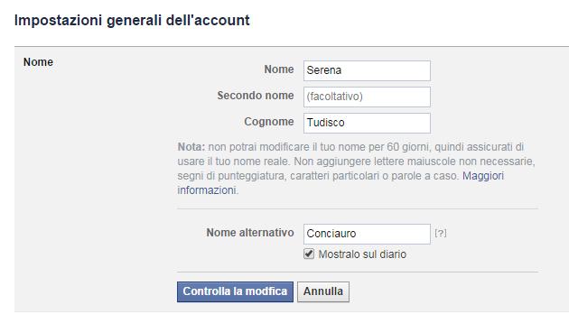 Cognome Materno, iniziamo da Facebook aggiungendolo!