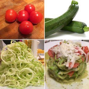 Spaghetti di verdure zucchine