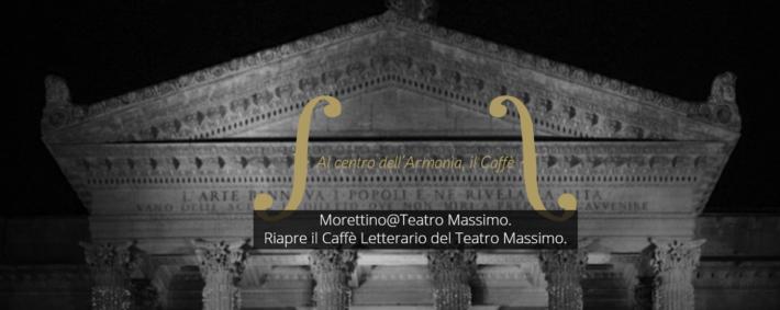 Il caffè Morettino incontra il caffè del Teatro Massimo