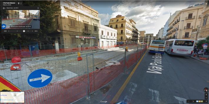 La nascita del Tram di Palermo con Street View di Google