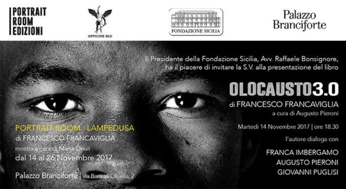 """Presentazione libro """"Olocausto 3.0"""" e inaugurazione Mostra """"Portrait Room Lampedusa"""""""