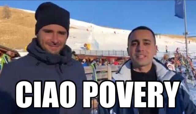 Di Maio e Di Battista contro i privilegi…sciando
